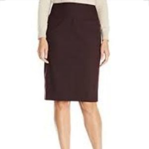 Ellen Tracy Women's Pencil Skirt, Fig Plain Weave